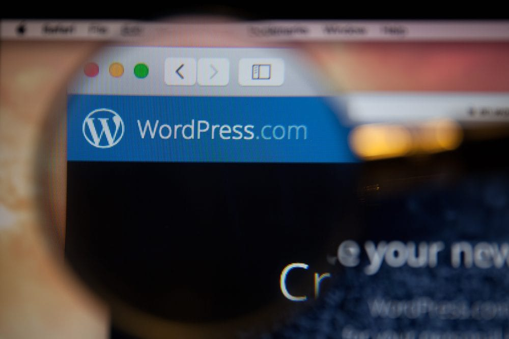Photo of WordPress.com homepage - How to Choose a Web Host?