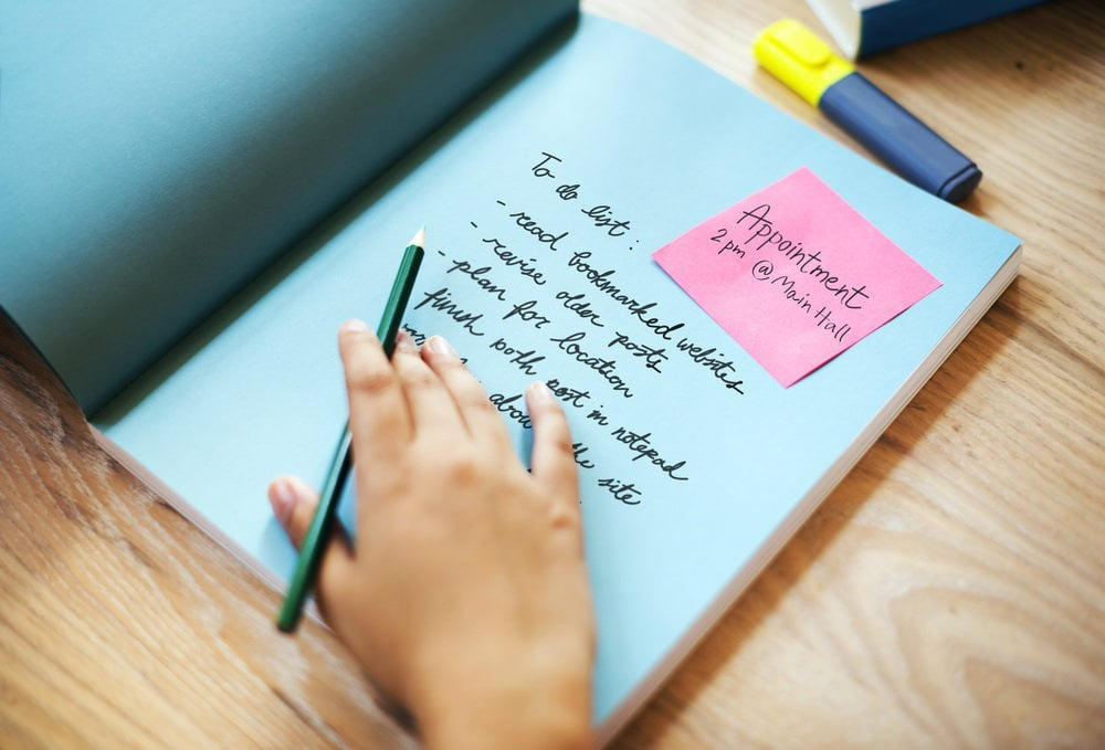 Planner Schedule Appointment Writing Concept