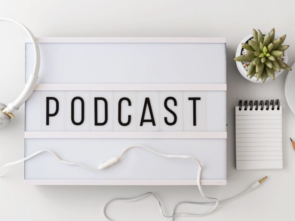 The podcast concept is based on traditional radio