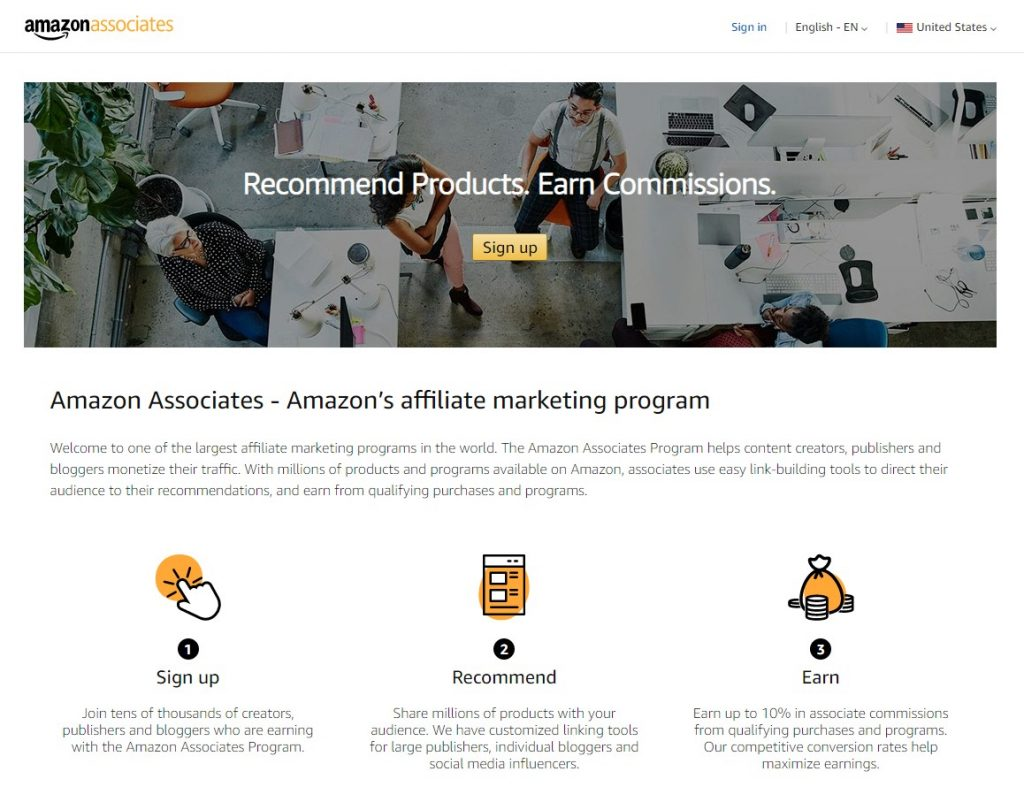 The Amazon Associates Program is probably the biggest and one of the best affiliate networks you can join
