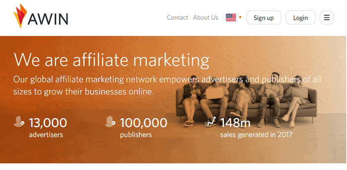 Awin is one of the best affiliate networks that provide infrastructure-free to all businesses