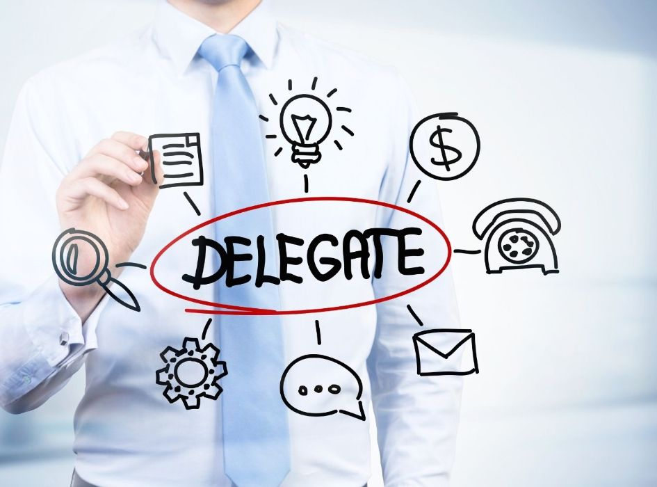 Entrepreneurs know how to delegate functions at critical moments