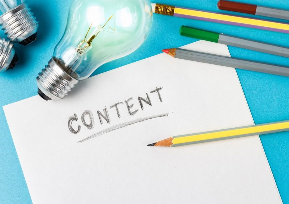 Start writing content for your blog