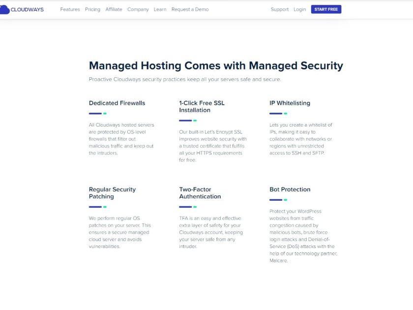 how secure is Cloudways web hosing