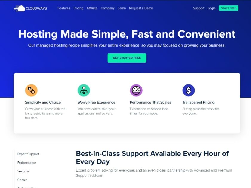 Cloudways offers hosting made simple, fast and convenient
