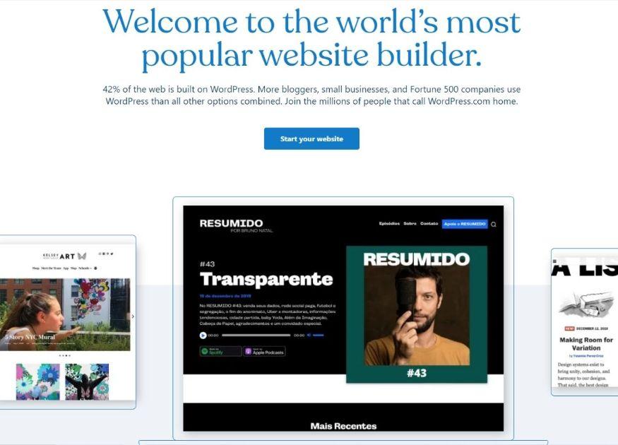 WordPress is the world's most popular website builder
